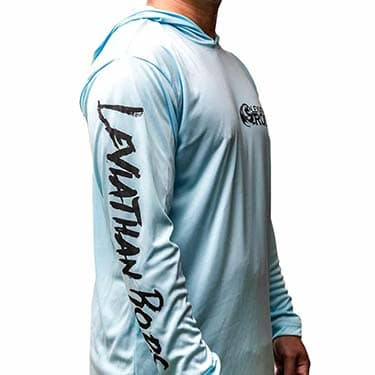 Hooded Dry-Wicking UV Protection Fishing Shirts - Blue | Leviathan Rods