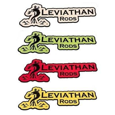 Leviathan Rods Decal - White, Green, Red, Gold