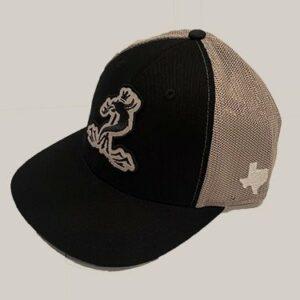 Black & Steel Mesh Snapback hat