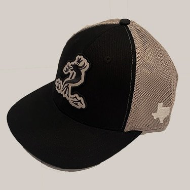 Black & Steel Mesh Snapback hat