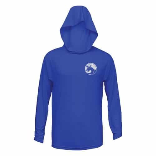 Blue UPF 25 protection Xtreme-Tek Hoodie | Leviathan Rods