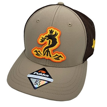 Brown SPF 50 Snapback Cap