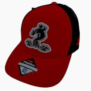 Red & Black SPF 50 Snapback Cap