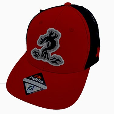 Red & Black SPF 50 Snapback Cap
